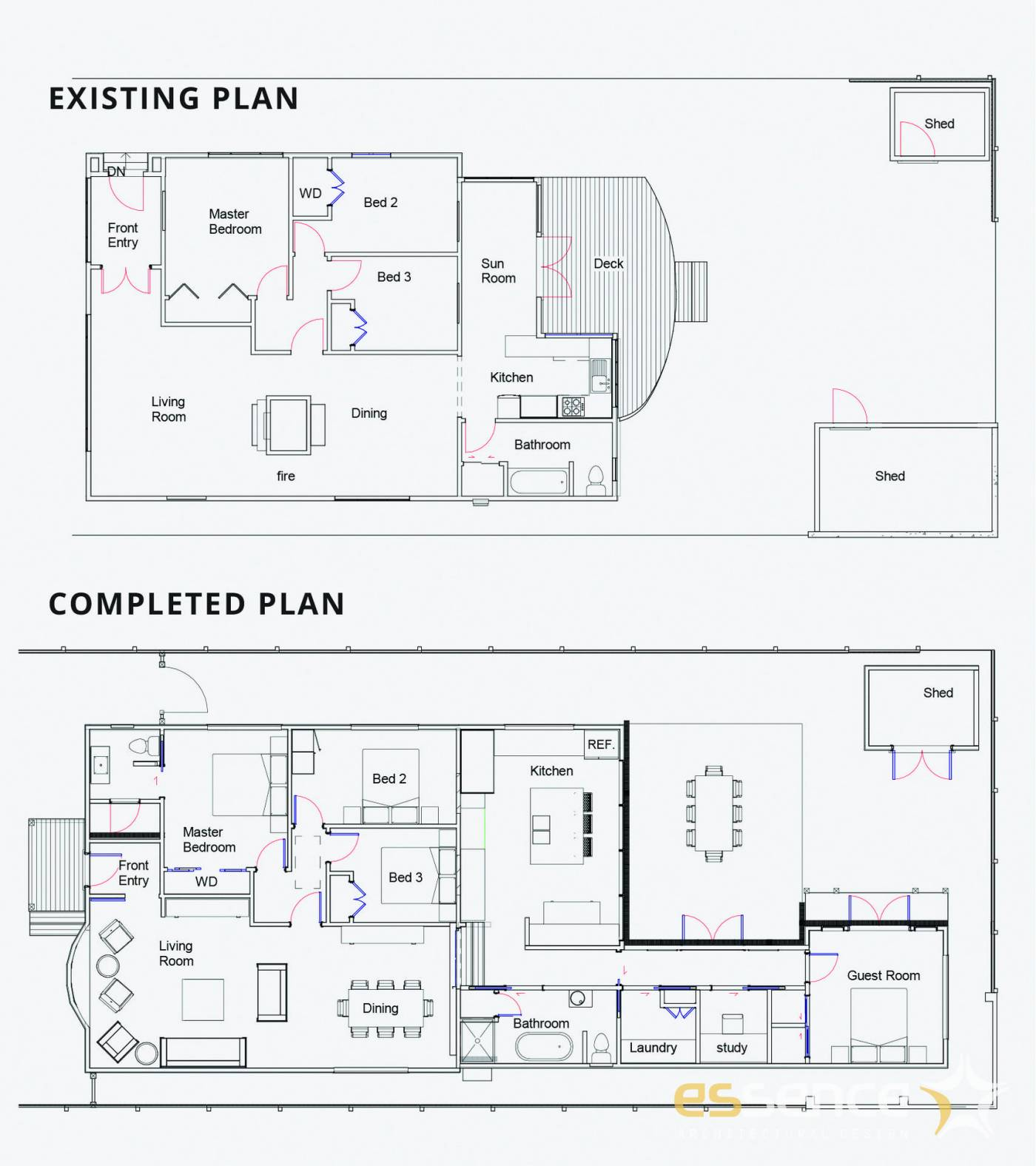 Existing and completed plans