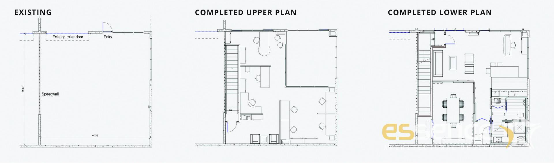 Completed floor plans